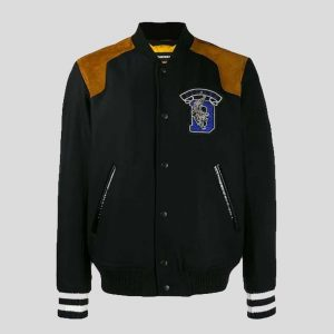 Bomber Jacket and Printed Jacket With Embroidered Patch
