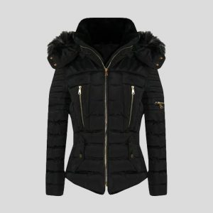 New Womens Quilted Winter Coat Puffer Fashion Fur Hooded Jacket – Tapfer