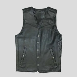 Mens Unique Style Leather Vest
