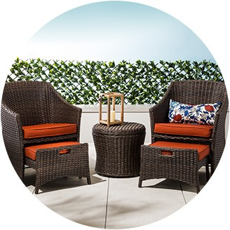 Patio Furniture   Target Small Space Patio Furniture