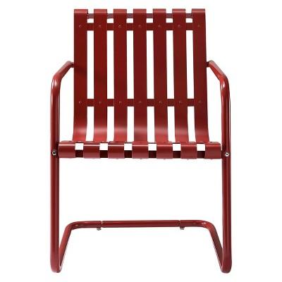 Gracie Metal Retro Patio Spring Chair Target