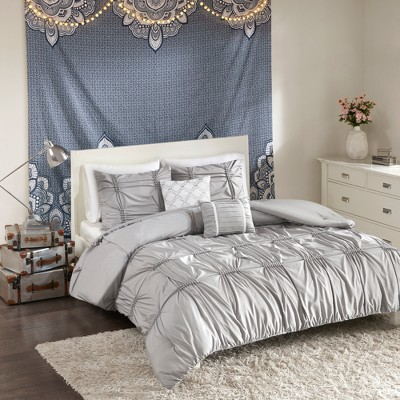 5pc Full Queen Rory Comforter Set Gray Target