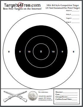 free printable shooting target # 53