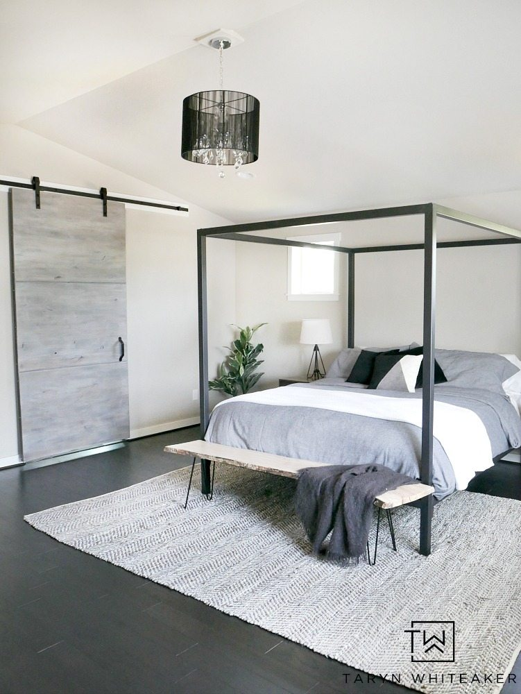 Master Bedroom Update   Steel Canopy Bed and Bedding   Taryn Whiteaker I can t rave about Room   Board enough  they produce incredibly high  quality products and their customer service has been top notch to work with