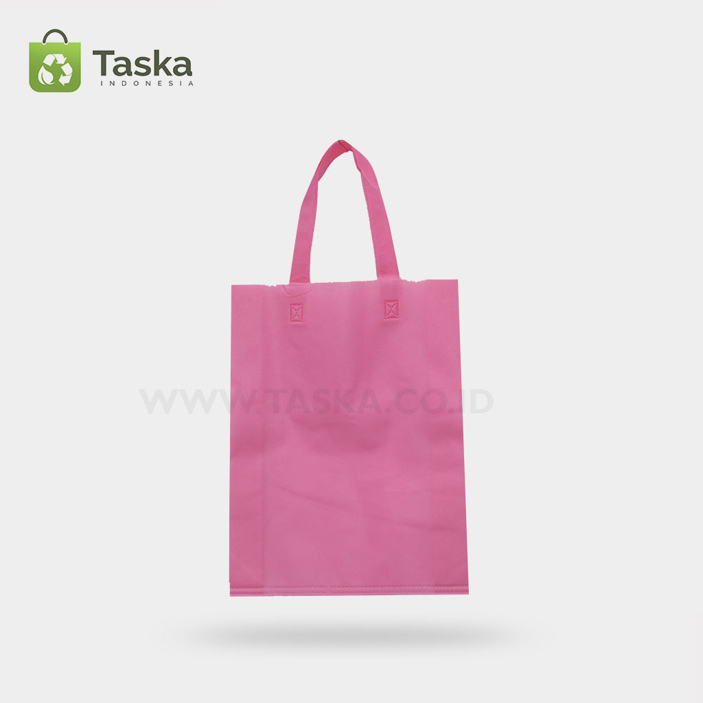 Tas Spunbond Handle Pink