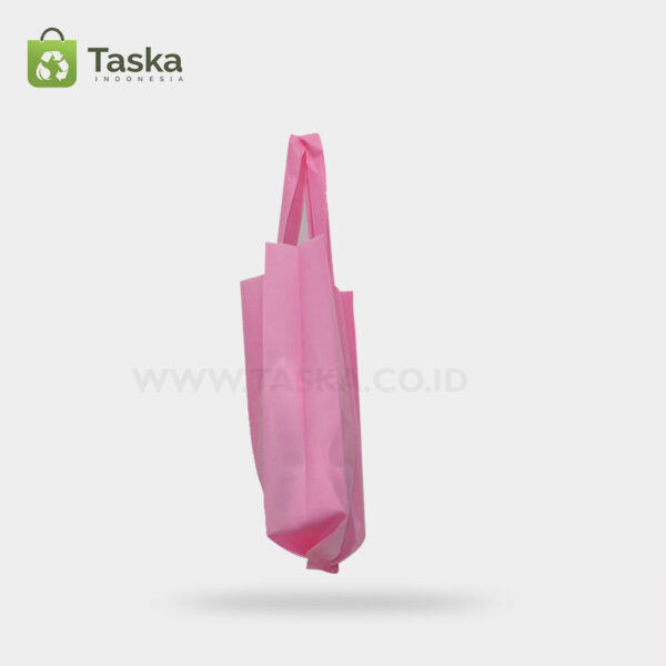 Tas Press Spunbond Handle – Pink 25×35 Cm – Sisi Kiri