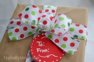 How To Make A Gift Bow by Typically Simple