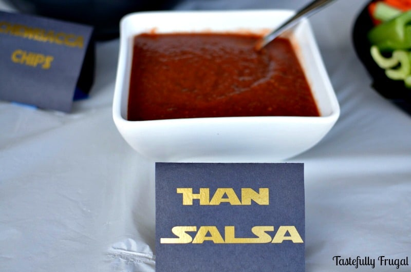 Han Salsa: A Thick, mild salsa every Star Wars fan is sure to love!