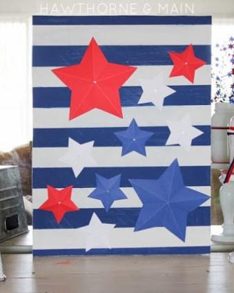 Twenty 4th of July Decor Ideas www.tastefullyfrugal.org