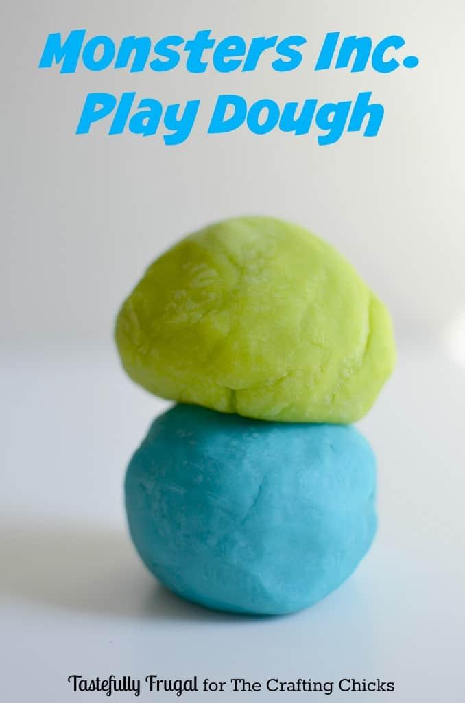 Monsters Inc. Play Dough www.tastefullyfrugal.org