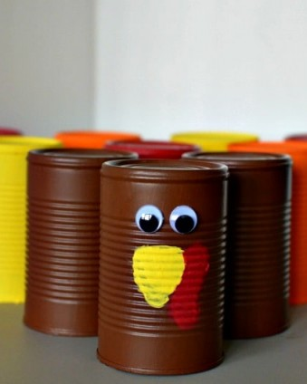 Turkey Bowling: A Fun and Free Thanksgiving Activitiy |Tastefully Frugal