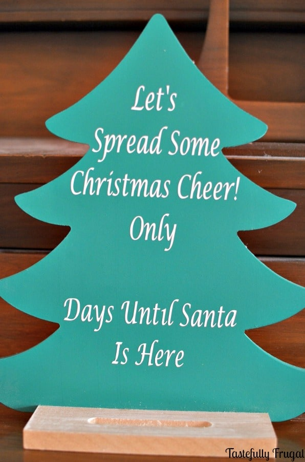 Christmas Tree Countdown AND Silhouette Giveaway | Tastefully Frugal