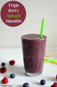 Triple Berry Spinach Smoothie: A healthy way to start your day | Tastefully Frugal