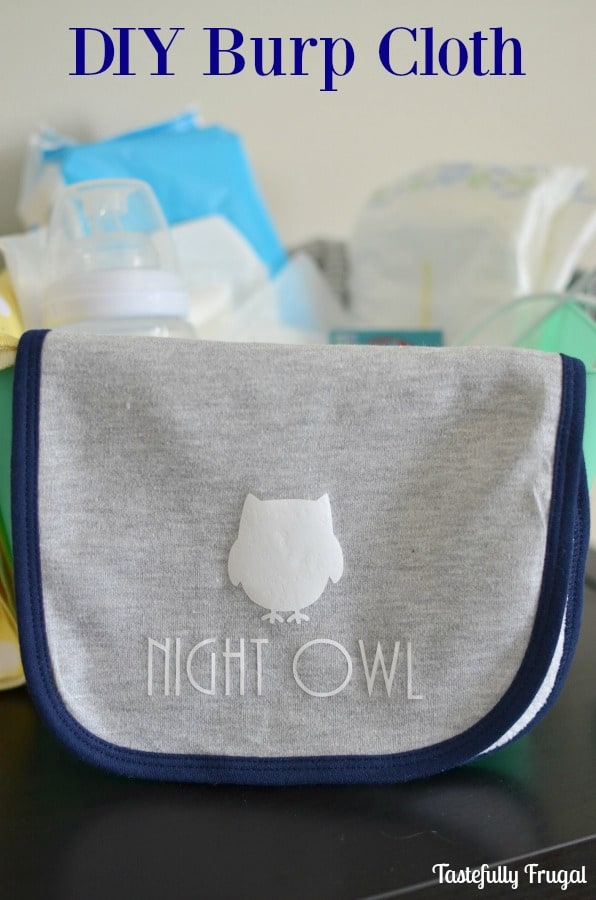Make Personalized Burp Cloths in Minutes: A Great Baby Shower Gift | Tastefully Frugal