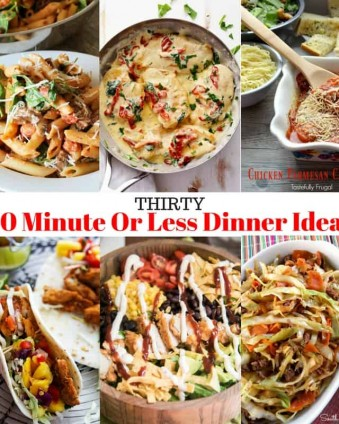 Thirty Dinner Ideas That Take 30 Minutes or Less To Make: Perfect for Back To School   Tastefully Frugal
