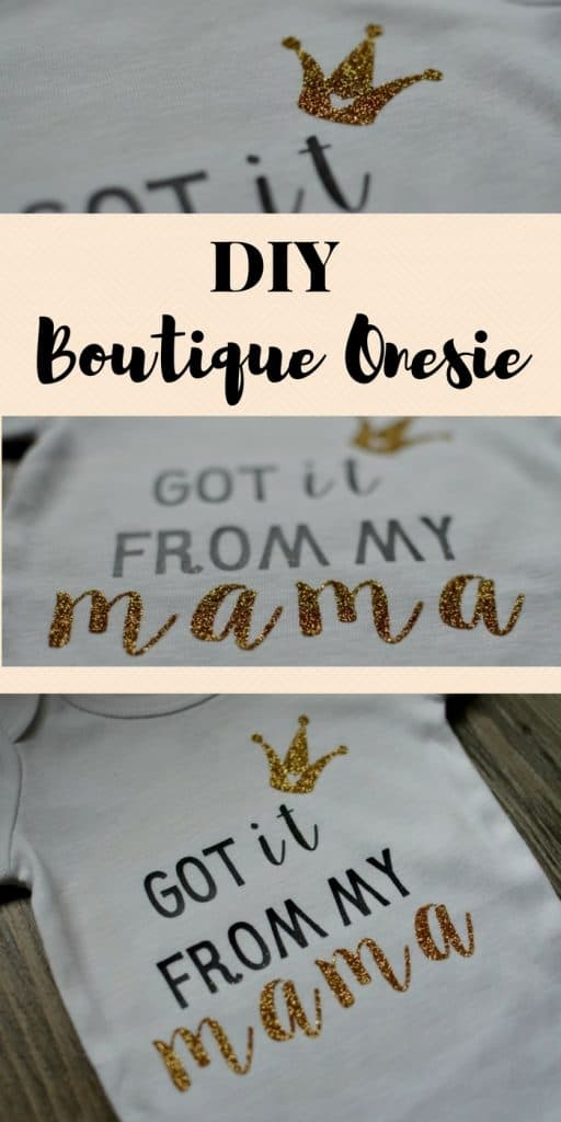 DIY Boutique Style Onesie: Make this onesie for your little princess for a fraction of the price it cost in a boutique | Tastefully Frugal