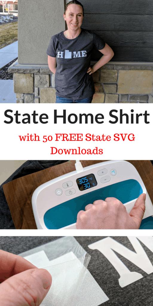 DIY Home Shirt w/ 50 States + FREE SVG Downloads