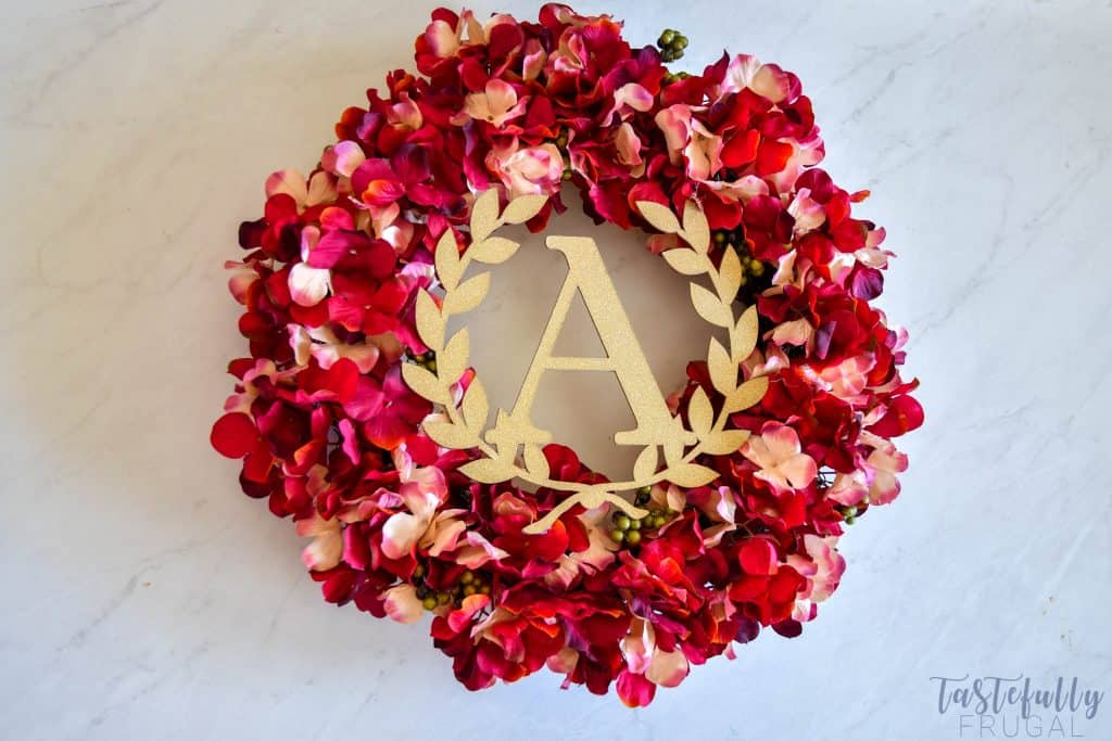 Make this wreath for less than $10 with the Cricut Maker!