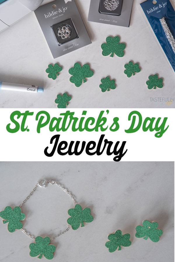 Make sure you're pinch proof this St. Patrick's Day with DIY Jewelry made with Cricut #ad