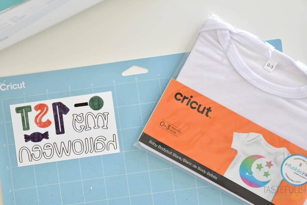 Learn How To Use Cricut Infusible Ink Pens and Markers to Make Baby's First Halloween Onesie #ad