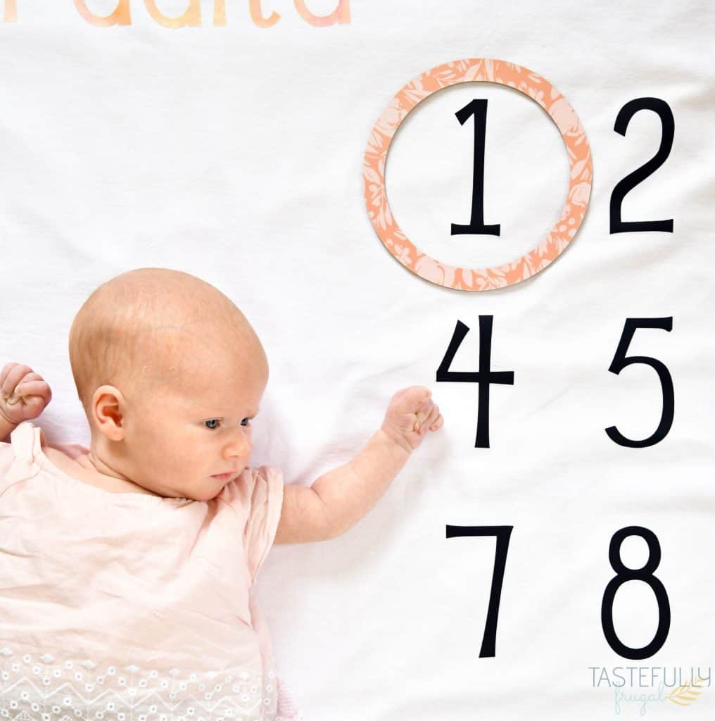 Make your own Baby Milestone Blanket for less than $10