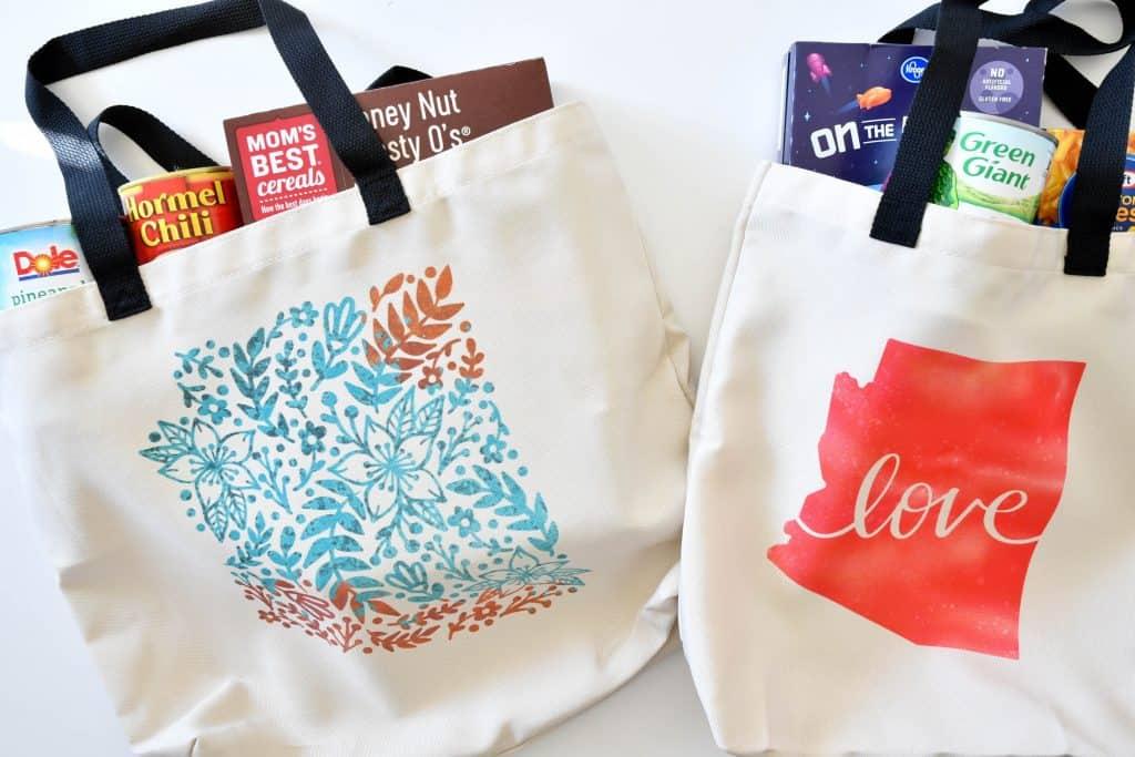 Make your own Reusable Shopping Bags with Cricut #ad #cricutcause