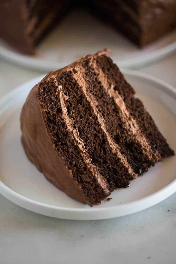 Chocolate Cake With Chocolate Mousse Filling Tastes