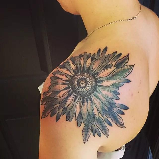 60 bright photos of sunflower tattoos