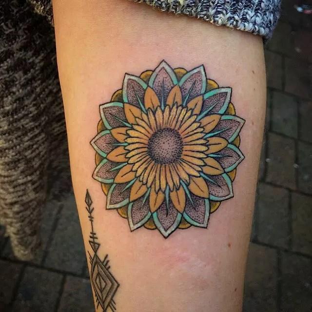45 bright photos of sunflower tattoos