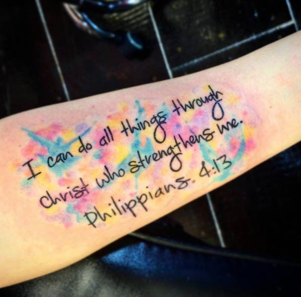 Me Tattoo Through All Arm Can Strengthens Things Christ Do Who I
