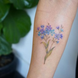d7c7884b9ccea Forget Me Not Alzheimer's Flower Tatoo | Gardening: Flower and ...
