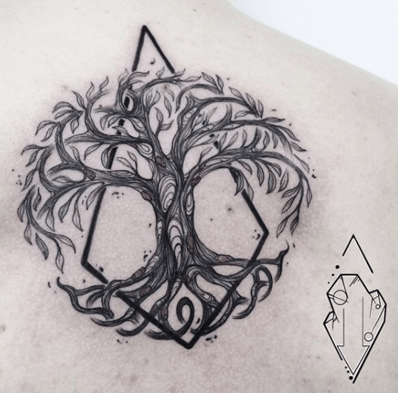 irish life of tree tattoo