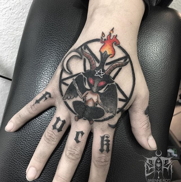 cute baphomet tattoo