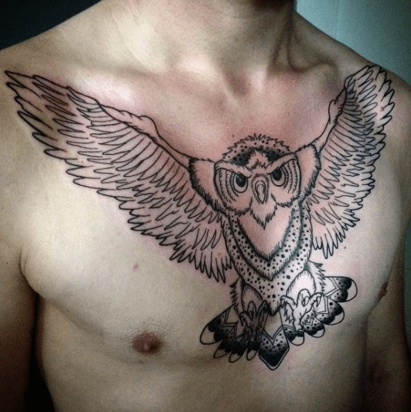 men chest tattoos