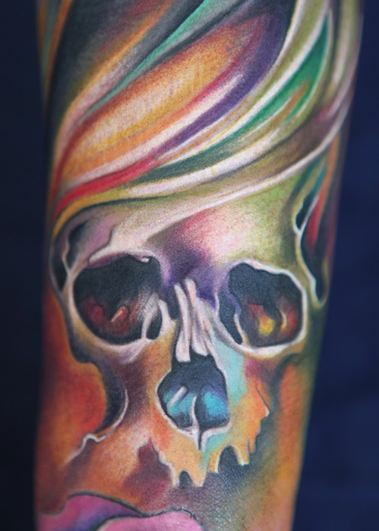 Colorful Pastel Skull Tattoo Tattoomagz Tattoo