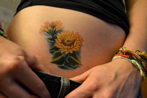 Cute Small Sunflower Tattoo Design for Women ...