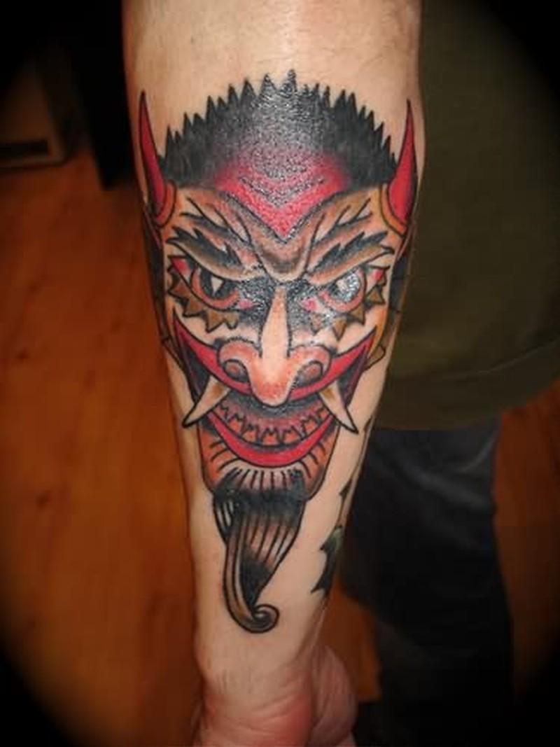 Ugly devil face design tattoo - Tattoos Book - 65.000 ...