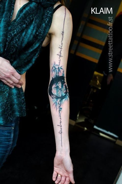 Watercolor Tattoo Classic Abstract Bamboo Watercolor Ideas And Designs