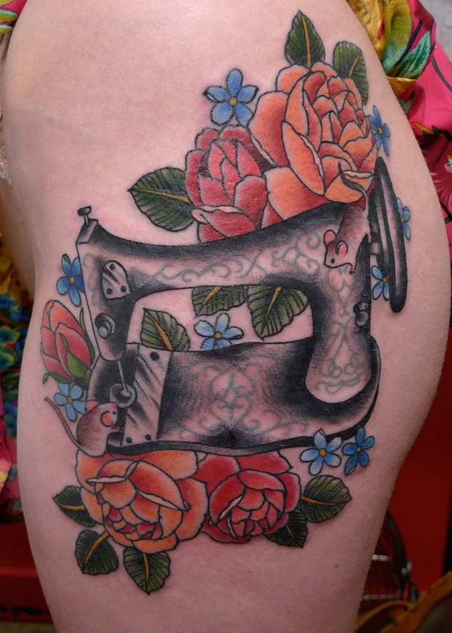21 Beautiful Sewing And Knitting Tattoo Designs Tattooblend Ideas And Designs
