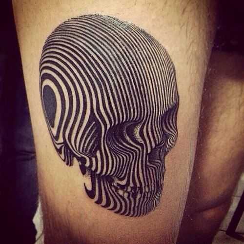 Amazing 3D Optical Skull Tattoo Best Tattoo Ideas Designs Ideas And Designs