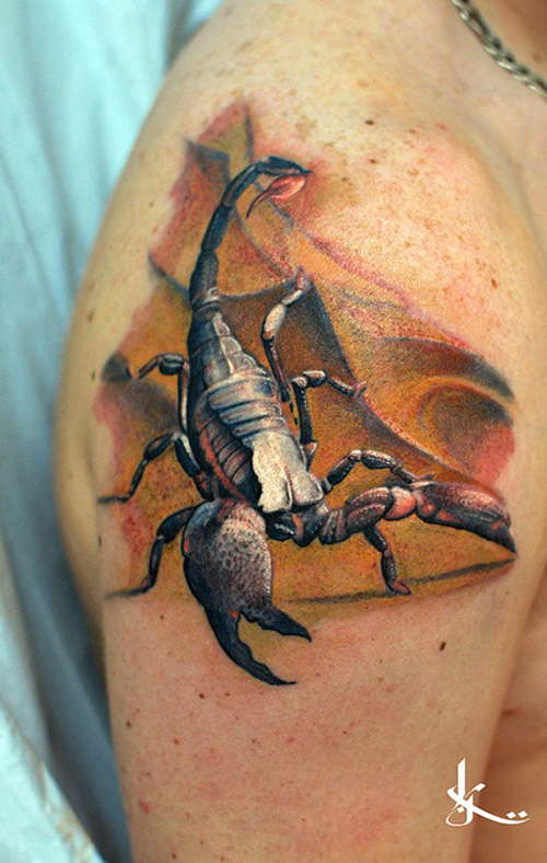 3D Scorpion Tattoo Best Tattoo Ideas Designs Ideas And Designs