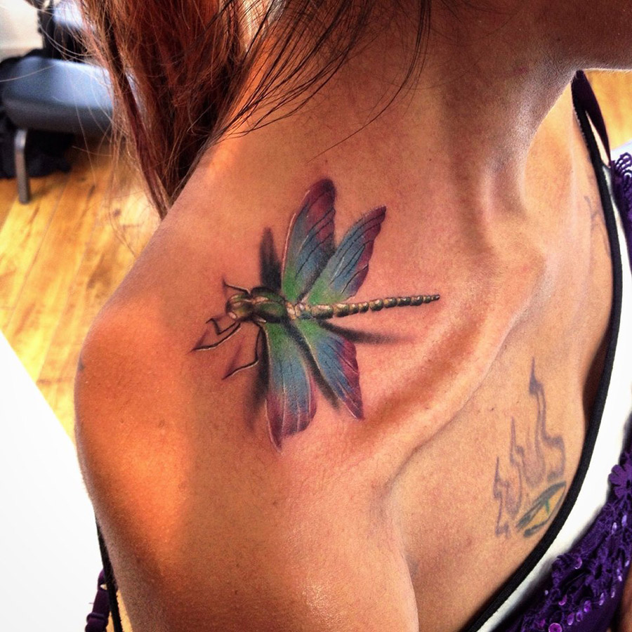 3D Dragonfly Tattoo Best Tattoo Ideas Designs Ideas And Designs
