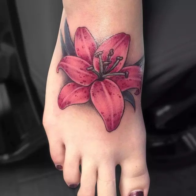 40 Colorful Lily Flower Tattoo Designs Meaning Ideas And Designs