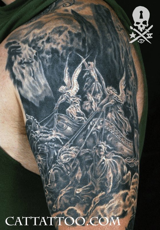 Cat Tattoo Tattoos Terry Mayo Gustave Dore Four Horsemen Ideas And Designs