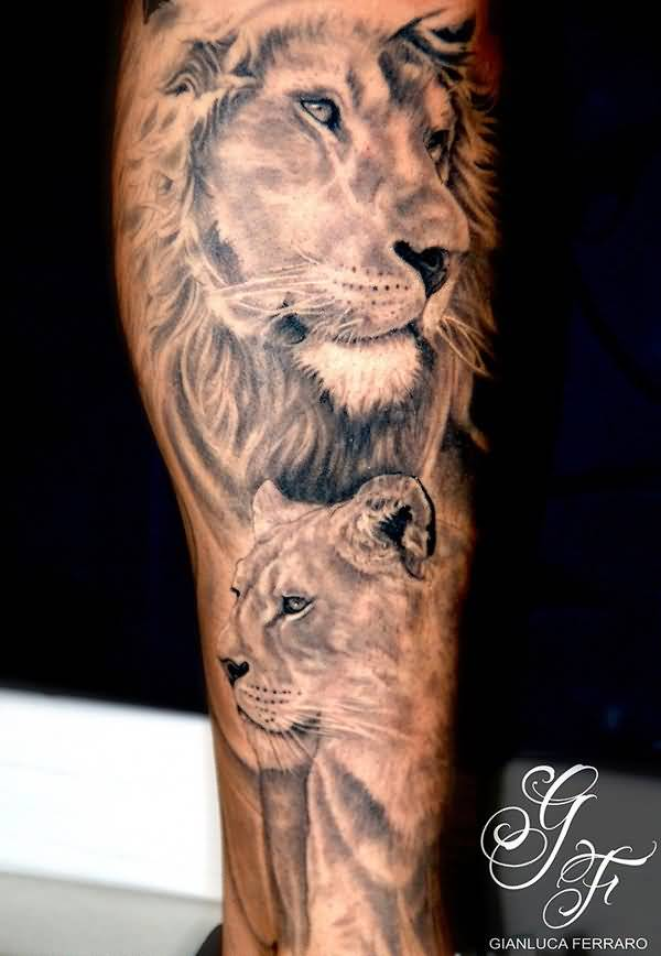 African Lion Tattoo Ideas And African Lion Tattoo Designs Ideas And Designs