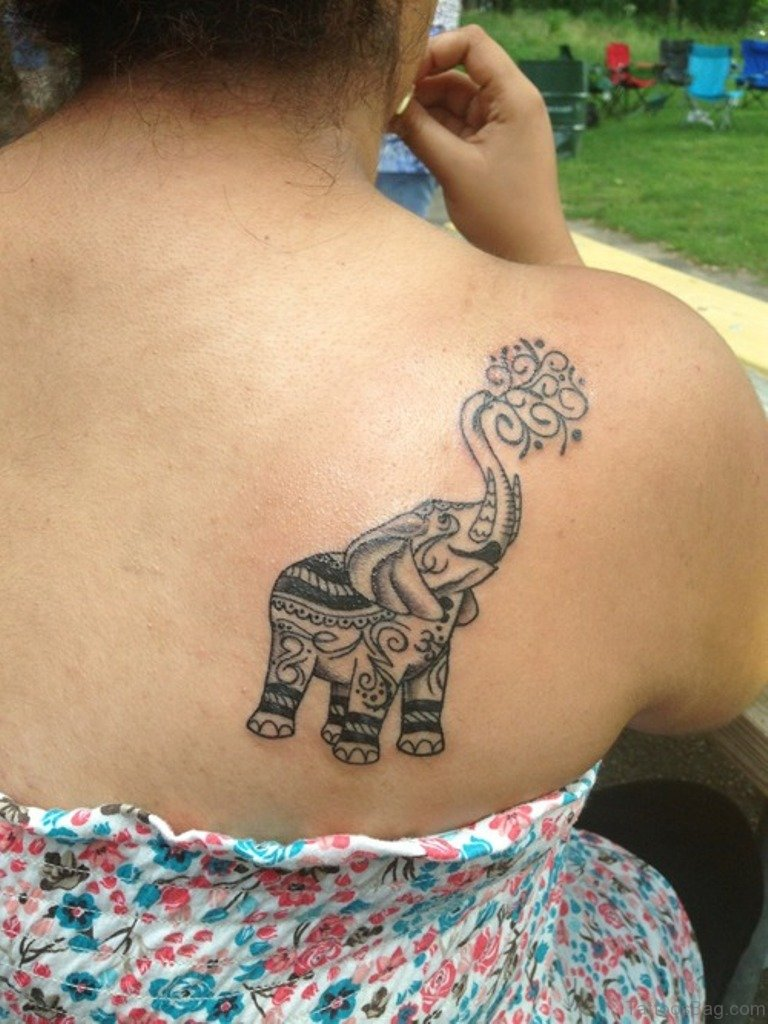 36 Sweet Elephant Tattoos On Shoulder Ideas And Designs