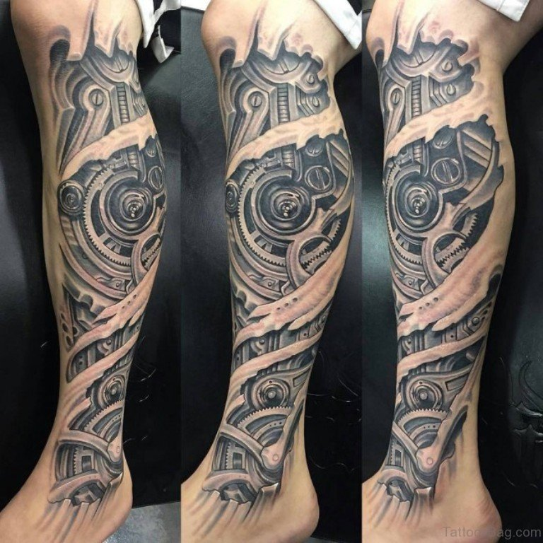 60 Trendy Biomechanical Tattoos On Leg Ideas And Designs