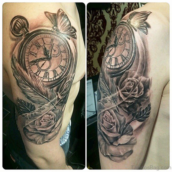 65 Perfect Clock Tattoos On Shoulder Ideas And Designs