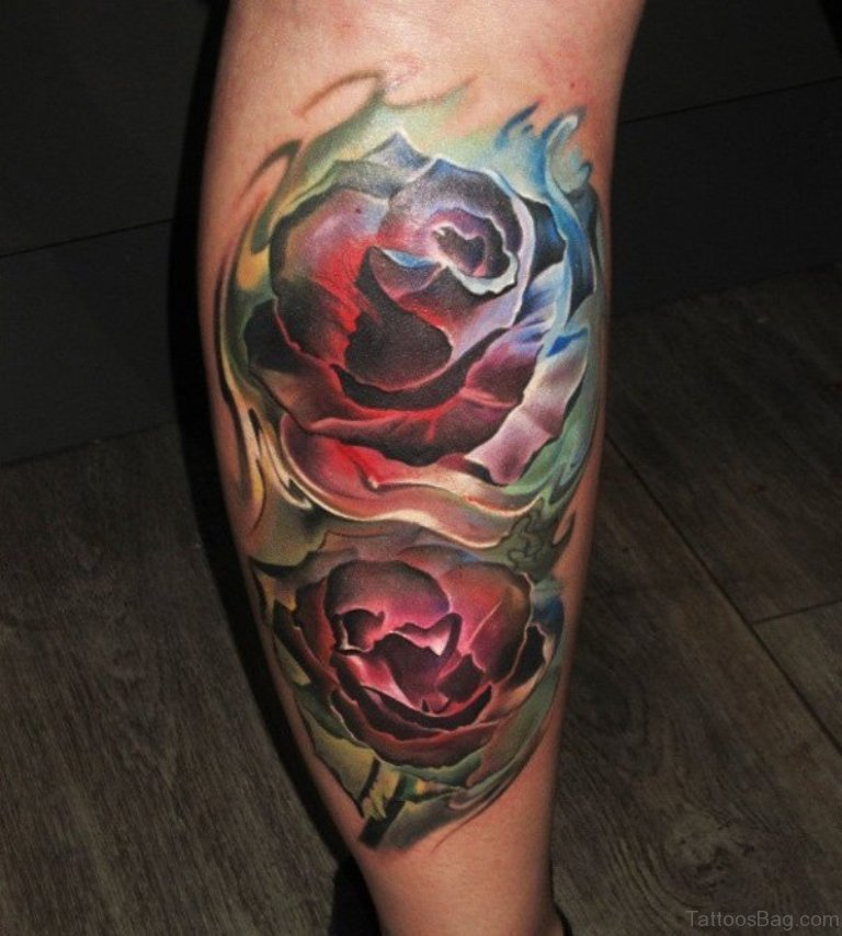 36 Fancy Rose Tattoos On Leg Ideas And Designs