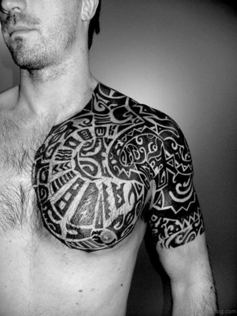 61 Stylish Tribal Tattoos On Chest Ideas And Designs